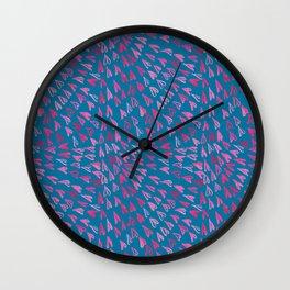 Mosaic Hearts Wall Clock
