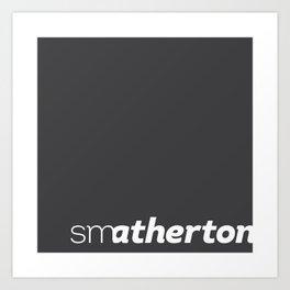 smatherton logo Art Print