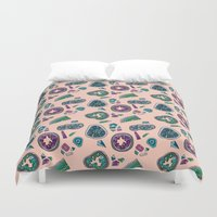 geode Duvet Covers featuring Geode by daintyish