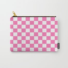Checkers - Pink and White Carry-All Pouch