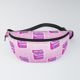 Loveboro cigarette packs pattern / girly stickers / pink grid Fanny Pack
