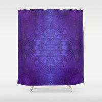 voyage Shower Curtains featuring Voyage by Soulive Design