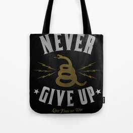 Never Give Up / Gold Tote Bag