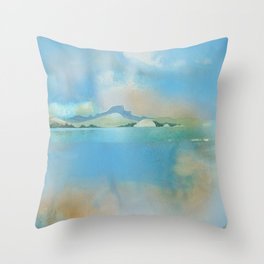 The Sacred Place From the Harbor Throw Pillow