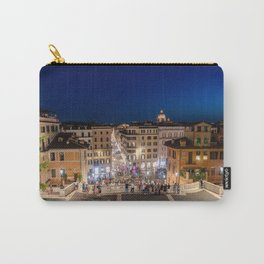 Spanish Steps and Piazza di Spagna at dusk - Rome, Italy Carry-All Pouch