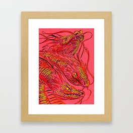 Tri-Dragon Framed Art Print