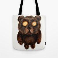 teddy bear Tote Bags featuring Teddy Bear by Riccardo Pertici