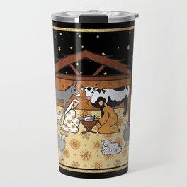 Christmas Nativity - Stable Amanya Design Travel Mug