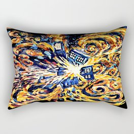 Exploded with Flame Blue phone Box iPhone 4 4s 5 5c 6, pillow case, mugs and tshirt Rectangular Pillow
