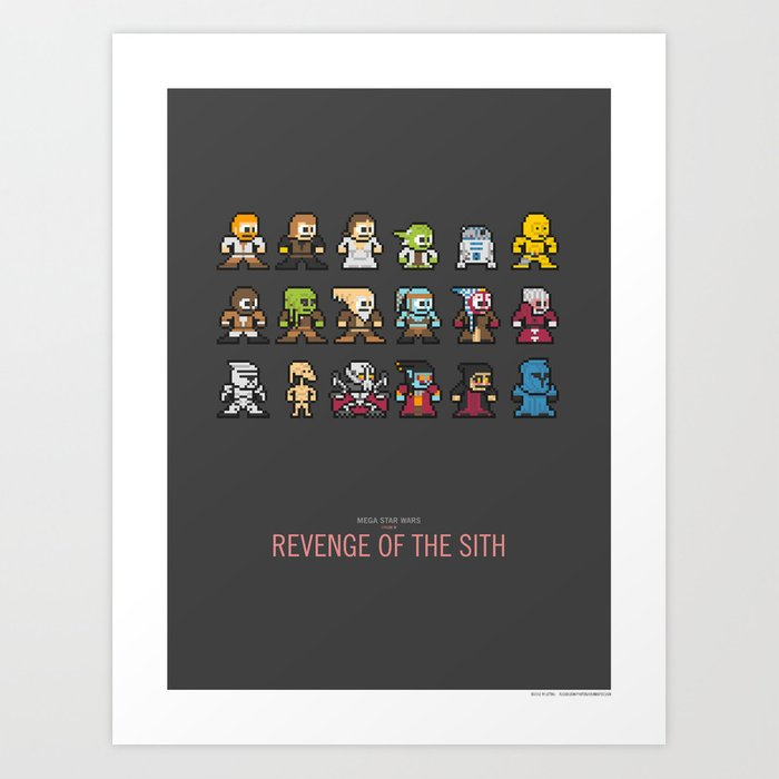Mega Star Wars: Episode III - Revenge of the Sith Art Print