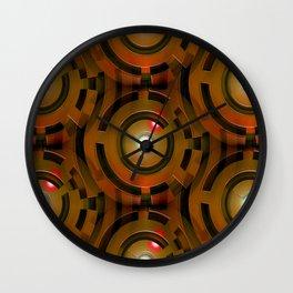 Bronze Maze Wall Clock