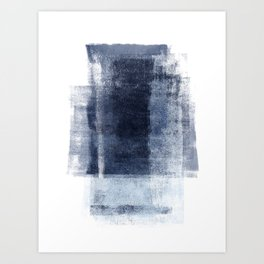 Just Blue and White 2 Art Print