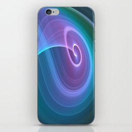 Spiral of Light in Blue iPhone Skin