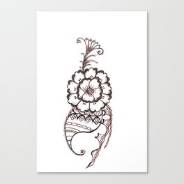 33. Big Henna Flower Alive and Growth Canvas Print