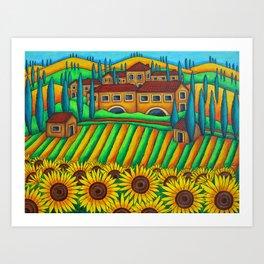 Colours of Tuscany Art Print