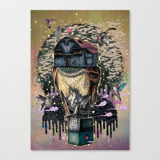 The Barn Owl Fortune Teller Canvas Print