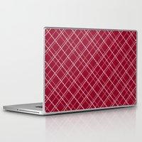 burgundy Laptop & iPad Skins featuring Burgundy Pattern by Christina Rollo