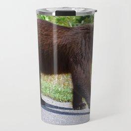 The happiest bear in Jasper National Park Travel Mug
