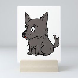Scottish Terrier Cute Cartoon  Mini Art Print