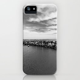 Black and White ocean iPhone Case