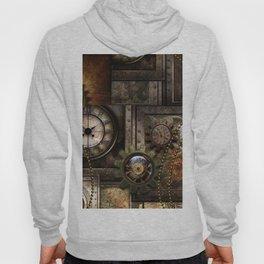 Steampunk, wonderful clockwork with gears Hoody