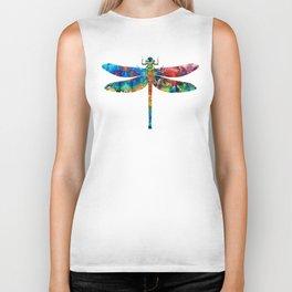 Colorful Dragonfly Art By Sharon Cummings Biker Tank