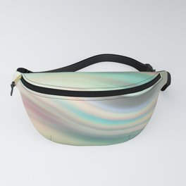 Green mist. Blurred background Fanny Pack