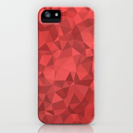 Red Low Poly Background iPhone Case