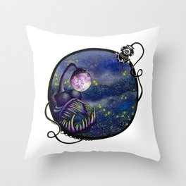 Meegan and the Moon Throw Pillow