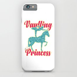 Vaulting Princess Gymnast Horse Acrobats Gift iPhone Case