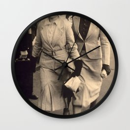 Caught off guard by a street photographer - the war years Wall Clock
