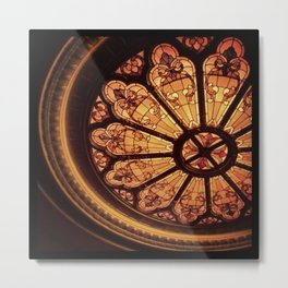 Orpheum Stained Glass Metal Print