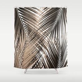 Golden Brown Palm Leaves Dream - Cali Summer Vibes #1 #tropical #decor #art #society6 Shower Curtain