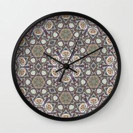 Mandala Of The Earth Wall Clock