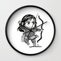 kili Wall Clocks featuring Kili Chibi by KuroCyou