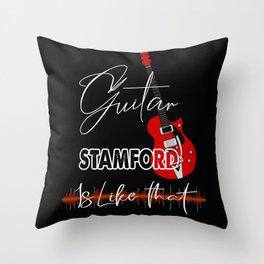 Stamford Connecticut Guita Music is like that retro Custom Throw Pillow