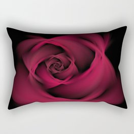 Abstract Rose Burgundy Passion Rectangular Pillow