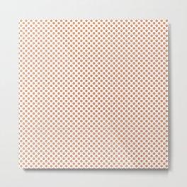 Copper Tan Polka Dots Metal Print