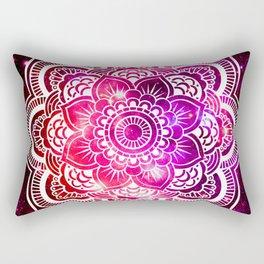 Galaxy Mandala Red Fuchsia Purple Pink Rectangular Pillow