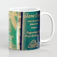 jane eyre Mugs featuring Jane Eyre by Apples and Spindles