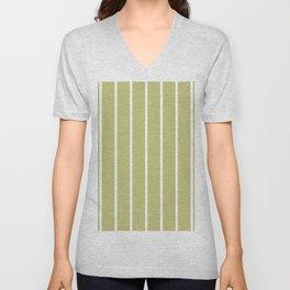 vertical stripes on avocado green Unisex V-Neck