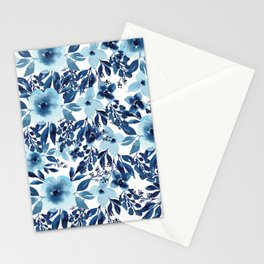 Blue Willow Florals Stationery Cards