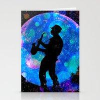 jazz Stationery Cards featuring Jazz by Saundra Myles