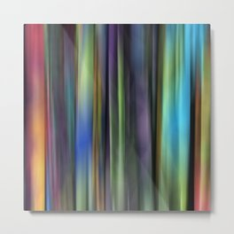 Rainbow: Blurred Tapestry Design Metal Print