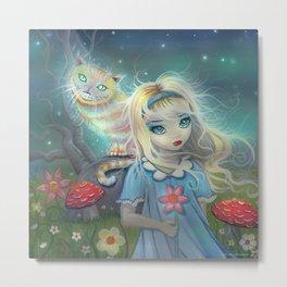 Alice in Wonderland Fantasy Art Metal Print