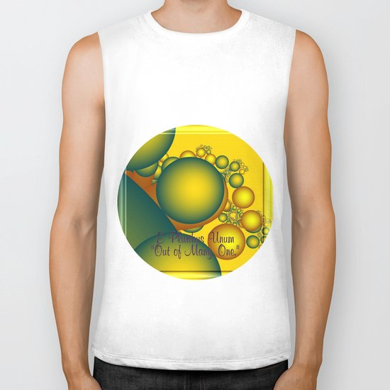 e pluribus unum   out of many - one Biker Tank