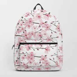 Watercolor cherry blossom Backpack
