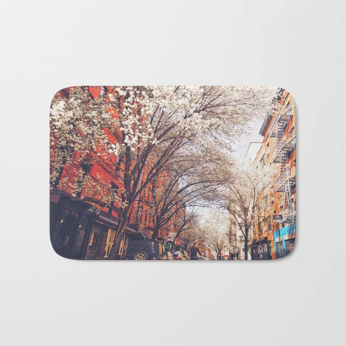NYC Cherry Blossoms on the Lower East Side Bath Mat