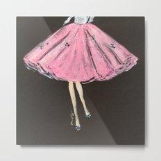 Jolie Pink Fashion Illustration Metal Print