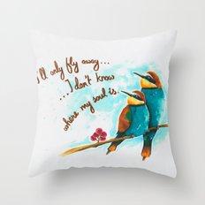 Lost birds Throw Pillow